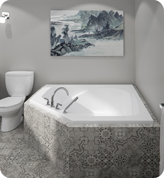 "Neptune Entrepreneur E116654.0 Edora 54"" Customizable Corner Pentagonal Bathtub"