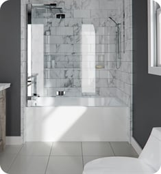 "Neptune Entrepreneur E121512.5 Azea AZEA3260 59 3/4"" Customizable Alcove Rectangular Bathtub with Tiling Flange and Skirt"