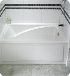 "Neptune 111612.5 Delight DJ3260D 60"" Customizable Alcove Rectangular Bathtub"