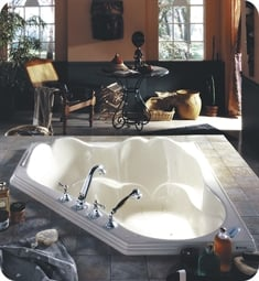 "Neptune 113954.0000 Orphee OR54 54"" Customizable Corner Bathtub"
