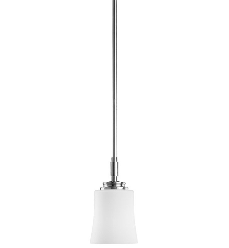 Kichler 2709NI Wharton Collection Mini Pendant 1 Light in Brushed Nickel