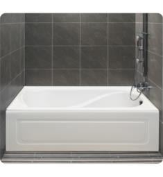 "Alcove A117015.5 Petunia 260 60"" Customizable Alcove Rectangular Bathtub with Tiling Flange and Skirt"
