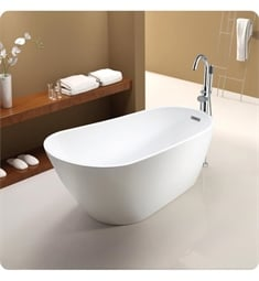 "Neptune Rouge 120012.0000.10 MAL3260F1 Malaga F1 60"" Customizable Free Standing Oval Bathtub"