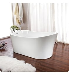 "Neptune Rouge 120122.0000.10 PAR3266F1 Paris F1 67"" Customizable Free Standing Oval Bathtub (1 Piece Shell)"