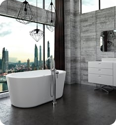 "Neptune Rouge 121812.0600.10 AZ3260F1O Amaze F1 59"" Customizable Free Standing Oval Bathtub"