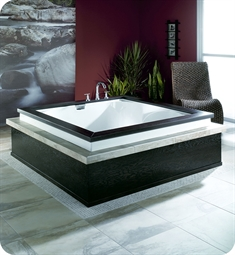 "Neptune 113260.00 MA6020 Macao 60"" Customizable Drop-In Square Bathtub with Therapies"