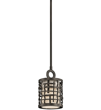 Kichler 43048OZ Loom Collection Mini Pendant 1 Light in Olde Bronze