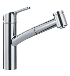 "Franke FFPS36 Smart 8 1/4"" Single Hole Deck Mounted Pullout Kitchen Faucet"