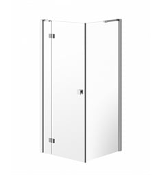 "Neptune 31.112 Fashion FASH36 Pivot Shower Enclosure with 36"" Return Panel and Clear Glass in Chrome Finish"