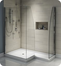 "Neptune 31.1162.993.30 Space SPACE3PDI 42 5/8"" Right Shower Enclosure with 3 Panel Tempered Clear Glass in Chrome Finish"