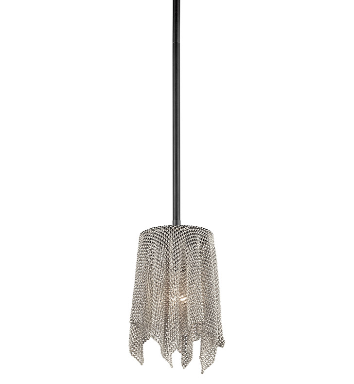 Kichler 42679NI Mini Pendant 1 Light in Brushed Nickel