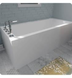 "Alcove A110120.5.1 Flory De Colt 7766 L2 65"" Customizable Alcove Rectangular Bathtub with Tiling Flange and Skirt on Two Sides"