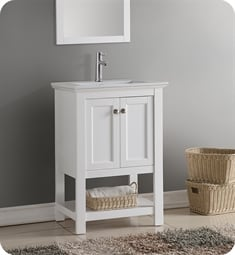 "Fresca FCB2304WH-I Manchester 24"" White Traditional Bathroom Vanity"