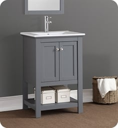 "Fresca FCB2304GR-I Manchester 24"" Gray Traditional Bathroom Vanity"