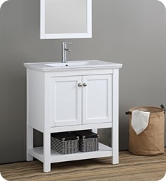 "Fresca FCB2305WH-I Manchester 30"" White Traditional Bathroom Vanity"