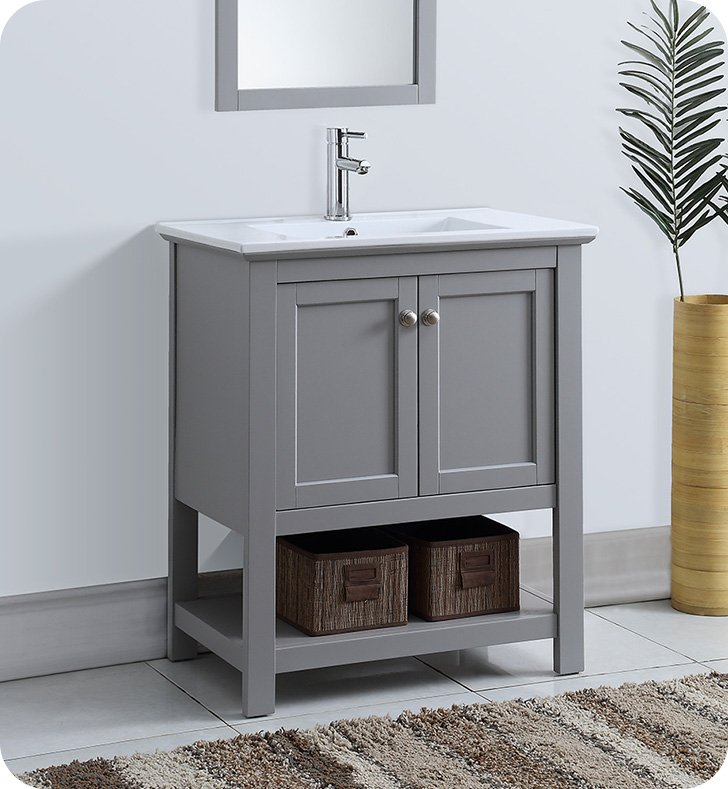 "Fresca FCB2305GR-I Manchester 30"" Gray Traditional Bathroom Vanity ..."
