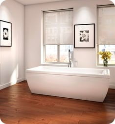 "Neptune 114729.0000 SY3872 Saphyr 72"" Customizable Free Standing Rectangular Bathtub"