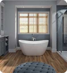 "Neptune Rouge 16.20412.0000.10 FLO3260F1 Florence F1 59 3/8"" White Free Standing Oval Bathtub"