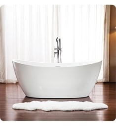 "Neptune Rouge 16.20422.0000.10 FLO3266F1 Florence F1 66 3/4"" White Free Standing Oval Bathtub"