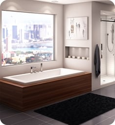 "Neptune 15.15812.002030.10 ZEN32602T Zen ZEN 60"" White Drop-In Rectangular Bathtub with 2"" Lip, Whirlpool Therapy Mode"