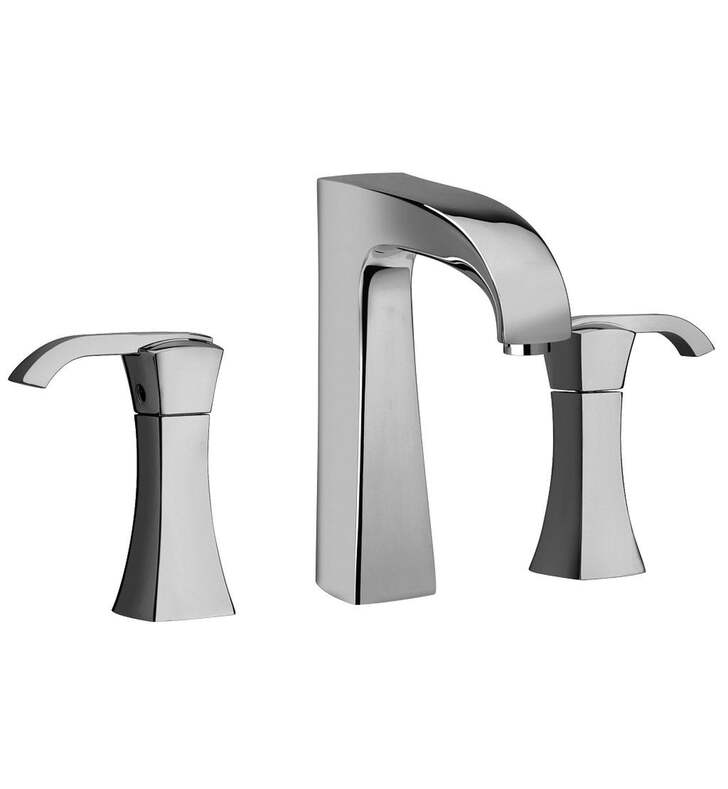 "LaToscana 89CR214 Lady 6 3/8"" Double Handle Widespread/Deck Mounted Bathroom Sink Faucet with Push Drain With Finish: Chrome"