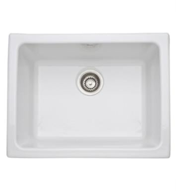 "Rohl 6347-00 Allia 24"" Single Bowl Undermount Fireclay Kitchen/Laundry Sink With Finish: White"