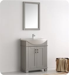 "Fresca FCB2303GR-I Hartford 30"" Gray Traditional Bathroom Vanity"