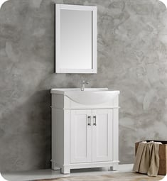 "Fresca FCB2303WH-I Hartford 30"" White Traditional Bathroom Vanity"