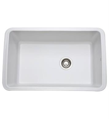 "Rohl 6307-68 Allia 31 5/8"" Single Bowl Undermount Fireclay Kitchen Sink With Finish: Pergame (Biscuit)"