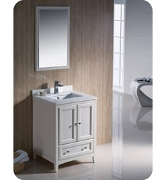 "Fresca FVN2024AW Oxford 24"" Traditional Bathroom Vanity in Antique White"
