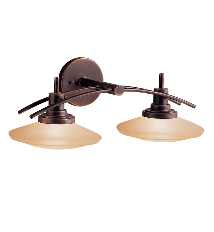 Kichler 6162OZ Structures Collection Bath 2 Light Halogen in Olde Bronze