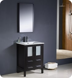 "Fresca FVN6224ES-UNS Torino 24"" Modern Bathroom Vanity with Integrated Sink in Espresso"
