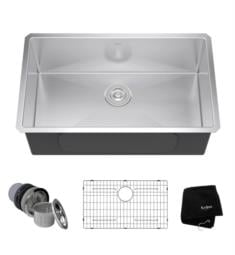 "Kraus KHU100-30 30"" Single Bowl Undermount Stainless Steel Rectangular Kitchen Sink"