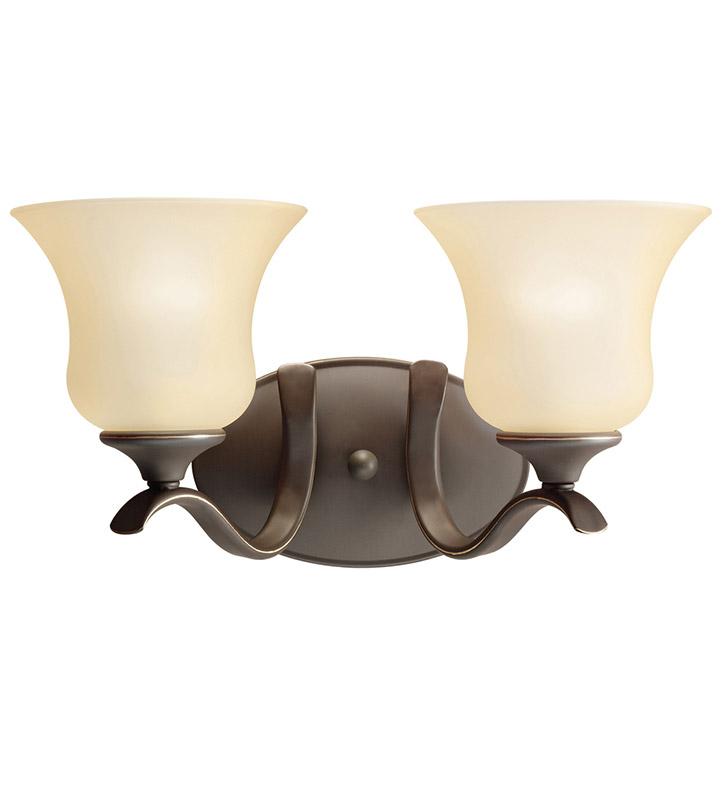 Kichler 5285OZ Wedgeport Collection Bath 2 Light in Olde Bronze