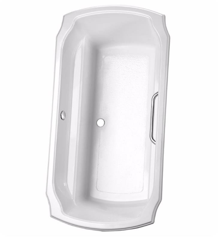 "TOTO ABY974N#12N Guinevere 71 1/2"" Acrylic Freestanding Soaker Bathtub with Optional Grab Bars With Finish: Sedona Beige And Grab Bar Finish: None"