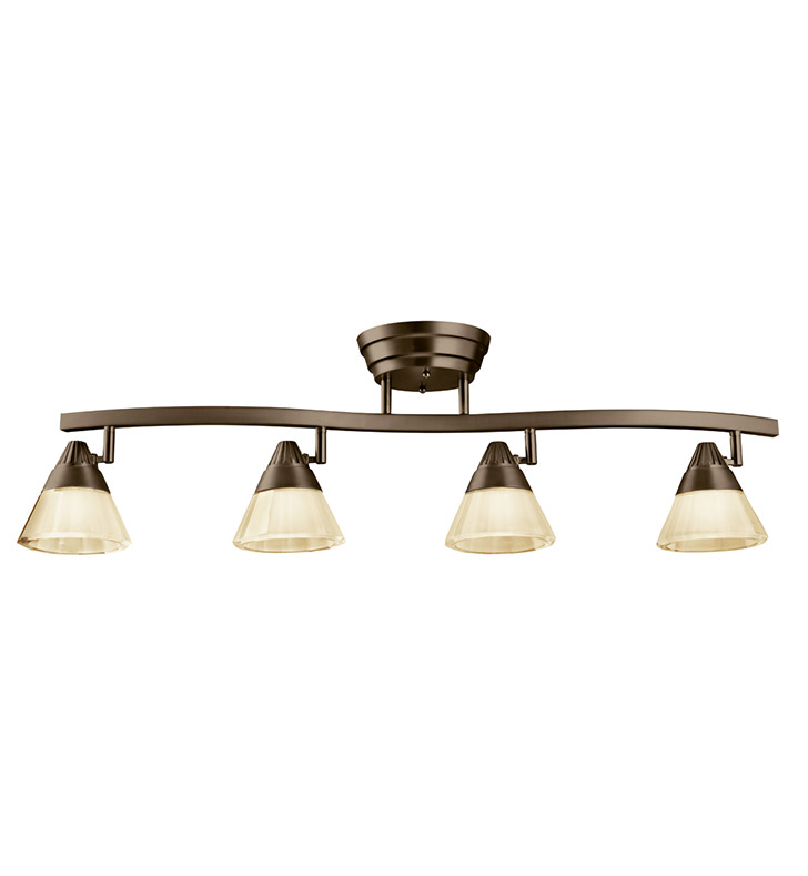 Kichler 10325OZ Fixed Rail 4 Light LED in Olde Bronze