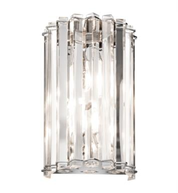 Kichler 42175CH Crystal Skye 2 Light Halogen Wall Sconce in Chrome
