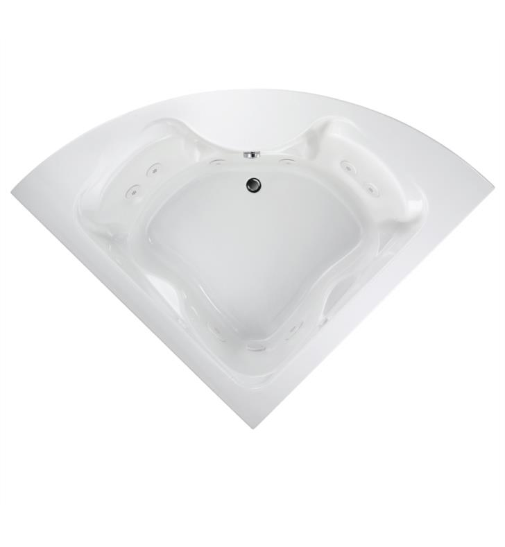 American Standard 2775018W.020 Cadet 60 Inch by 60 Inch Corner EverClean Whirlpool in White