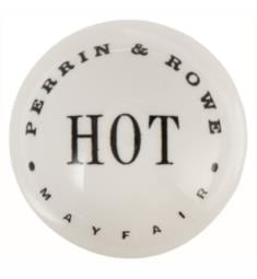 "ROHL 9.026003 Perrin & Rowe White Porcelain Insert Only with Hot Indication for 3/4"" Handles"
