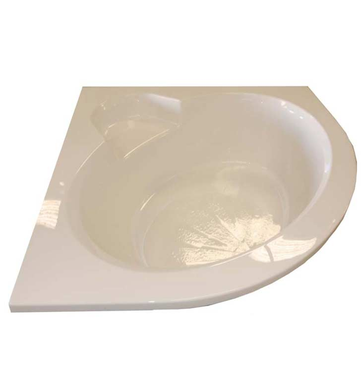 "American Acrylic BR-44 60""x60"" Corner Bathtub with Seat"