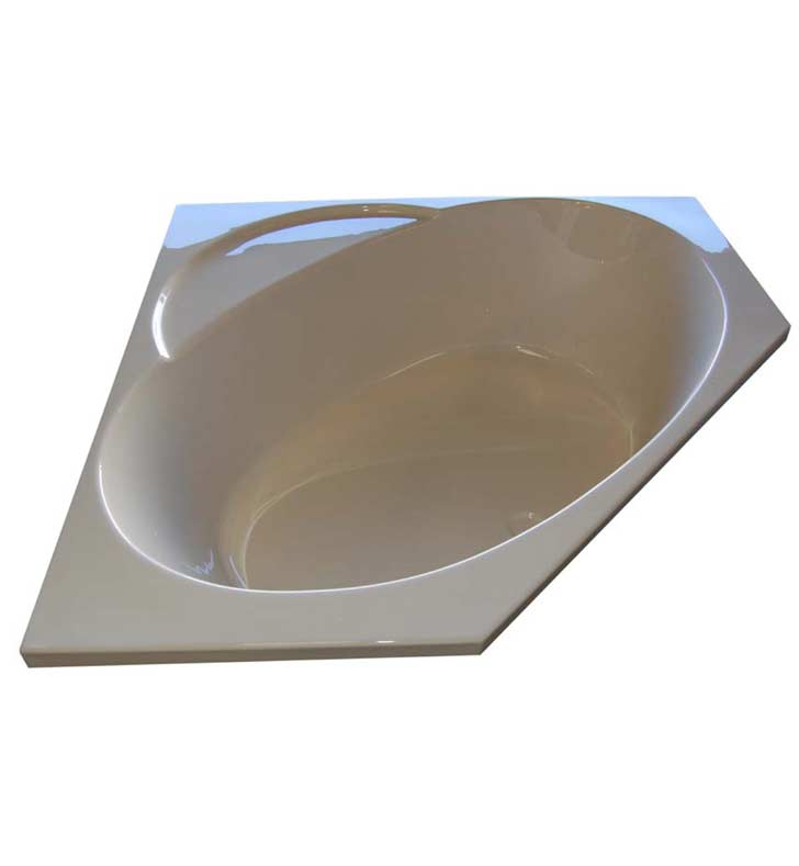 "American Acrylic BR-49A 48""x48"" Corner Bathtub With Jet Mode: Air (16 jets)"