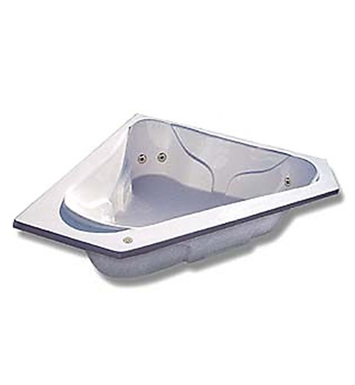 "American Acrylic BRA-72 72""x72"" Corner Bathtub with Arm Rest and Head Rest"