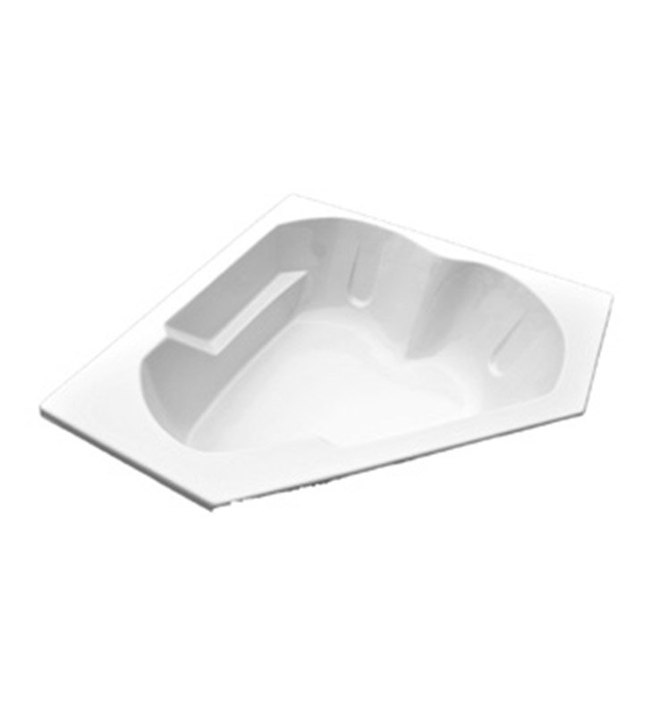 "American Acrylic BRA-55C 60""x60"" Corner Bathtub With Jet Mode: Combo (Whirlpool & Air Jets)"