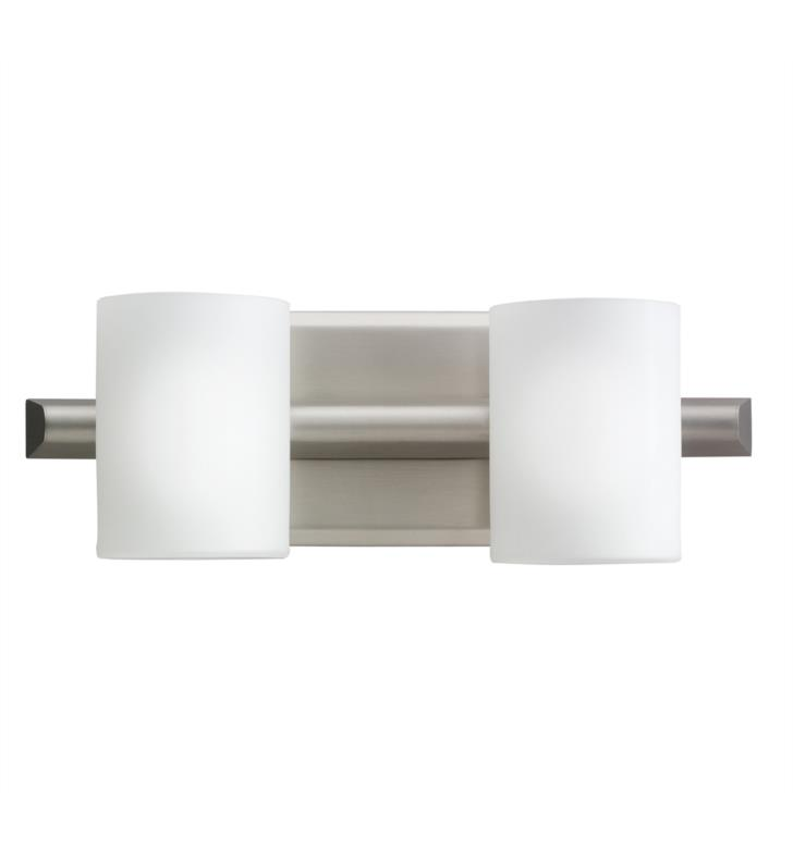 "Kichler 5966NI Tubes 2 Light 13 3/4"" Halogen Wall Mount Bath Light in Brushed Nickel"
