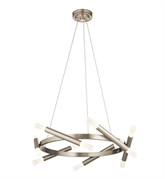 Elan Lighting 84027 Radian LED Pendant in Brushed Nickel Finish