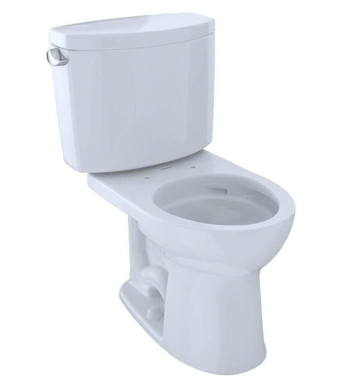 TOTO CST453CEFG#01 Drake II Two-Piece Round Toilet with 1.28 GPF ...