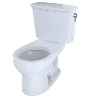 TOTO CST743ERN#01 Eco Drake Two-Piece Round Toilet with 1.28 GPF Single Flush and Right Hand Trip Lever