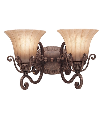 Kichler 5056CZ Cottage Grove Collection Bath 2 Light in Carre Bronze