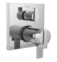 "Delta T27T867 Ara 17T Series 6 7/8"" Thermostatic Valve Trim with Integrated Volume Control and Three Function Diverter"