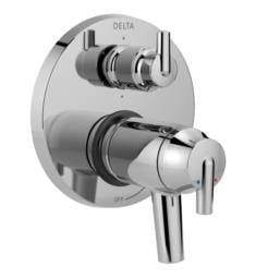 "Delta T27T959 Trinsic 17T Series 6 5/8"" Dual Function Thermostatic Valve Trim with 6-Setting Integrated Diverter"